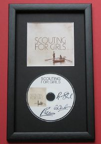 SCOUTING FOR GIRLS - Scouting For Girls CD DISC MEMORABILIA presentation